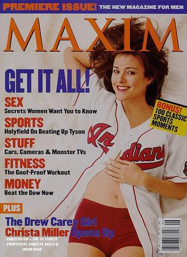 Christa Miller 바탕화면 entitled Christa Miller on Maxim Cover