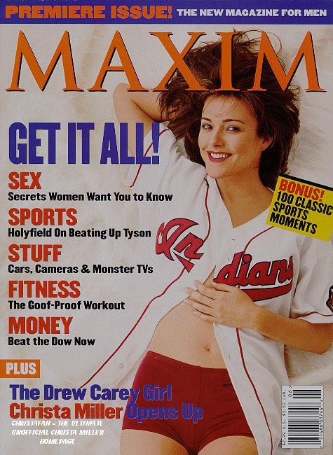 Christa Miller on Maxim Cover