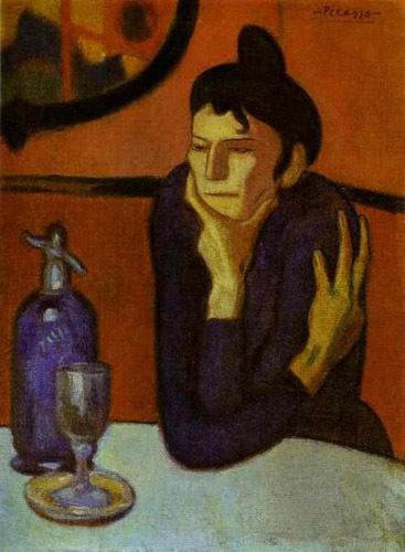 """Woman Drinking Absinthe"" - absinthe Photo"