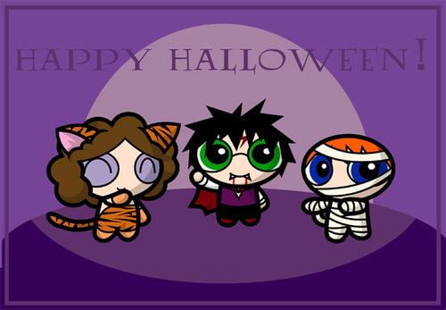 """""""Happy Halloween"""" Potterpuffs"""
