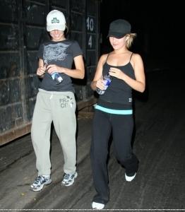 Kristen jogging with Hayden