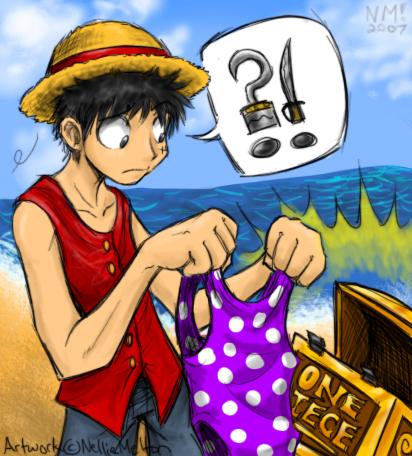 """Luffy finds One Piece"""