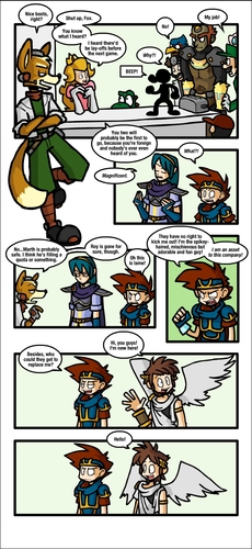 "Super Smash Bros. Brawl 壁纸 called ""Newcomer"" Comic"