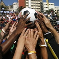 """One ball to unite the world"" - soccer photo"