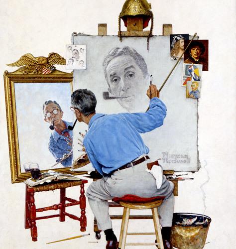 """Triple Self Portrait"""