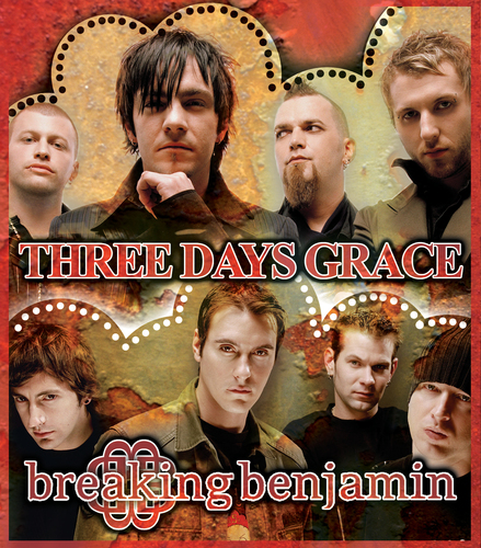 Three Days Grace kertas dinding called 3DG vs. BB