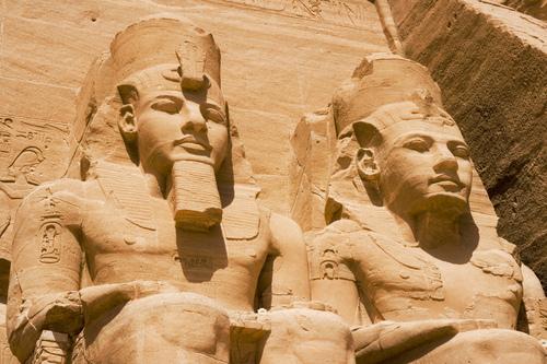 Egypt achtergrond entitled Abu Simbel