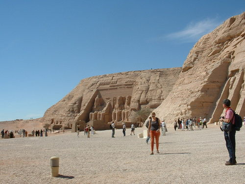 Egypt achtergrond called Abu Simbel