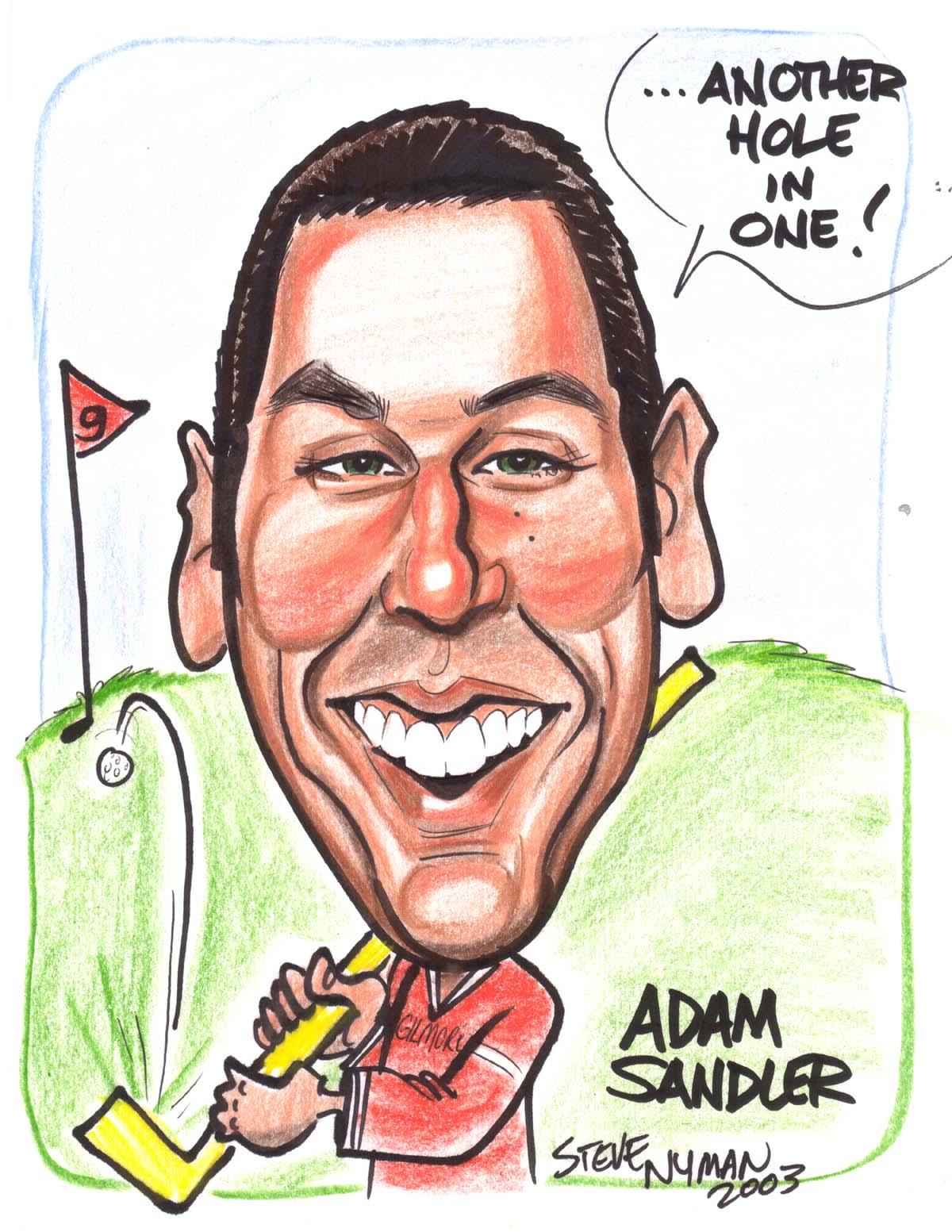 Adam Sandler Caricature