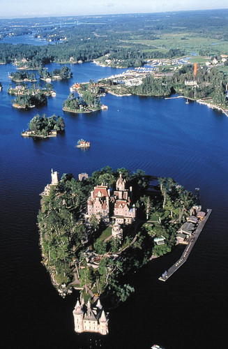 Aerial of Boldt Castle - castles Photo