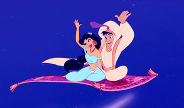 Walt Disney Screencaps - Prince Aladdin & Princess hasmin