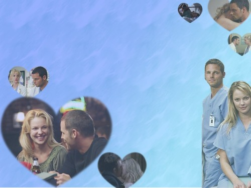 Alex and Izzie wallpaper titled Alex & Izzie wallpaper