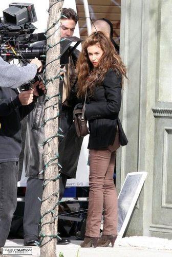 Alyssa on set of Wisegal