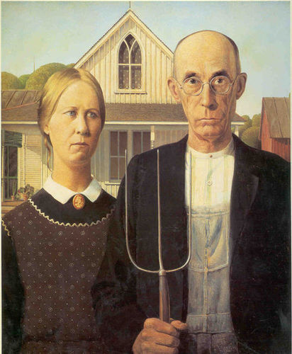 Modern Art wallpaper titled American Gothic