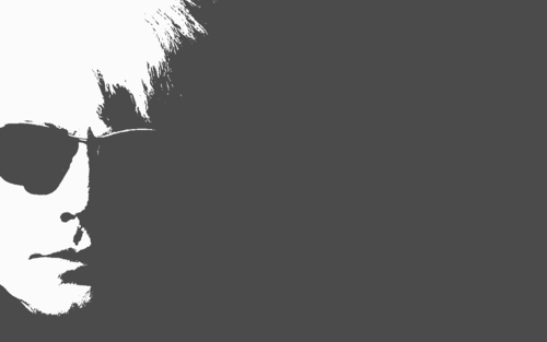 Andy Warhol wallpaper titled Andy Warhol (gray)