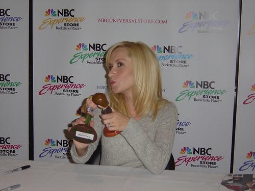 Angela Kinsey at the NBC Store