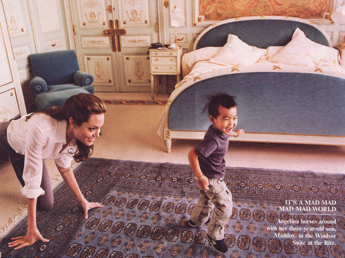 Angelina & Son Maddox