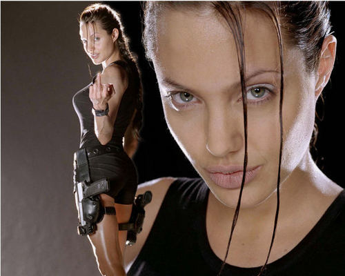 Angelina as Lara Croft