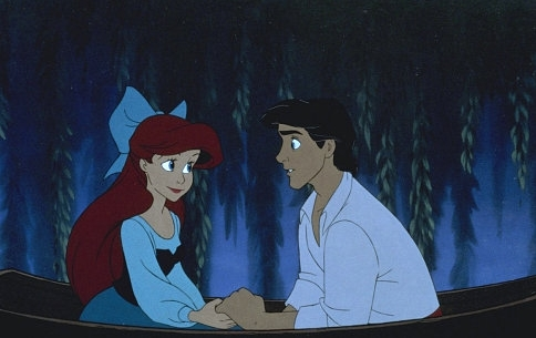 Walt 디즈니 Production Cels - Princess Ariel & Prince Eric