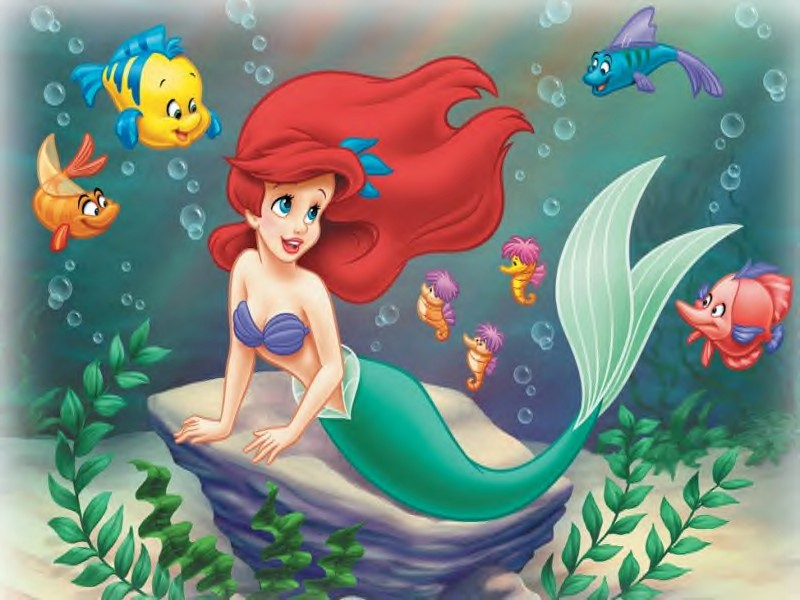 Ariel & Friends - The Little Mermaid 800x600