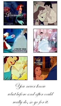 Ariel, Cinderella, Belle