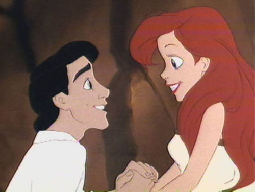 Walt ディズニー Screencaps - Prince Eric & Princess Ariel