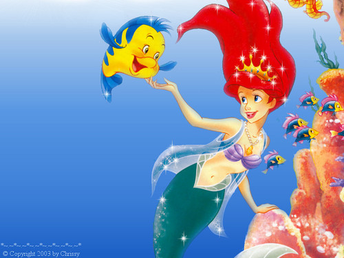 Walt disney wallpaper - menggelepar & Princess Ariel