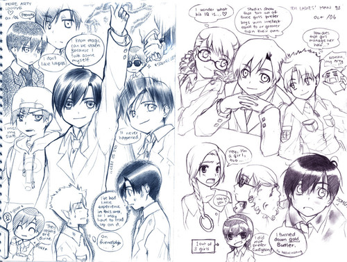 Artemis Fowl Sketches