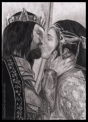 Arwen and Aragorn Drawing
