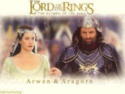 반지의 제왕 바탕화면 entitled Arwen and Aragorn