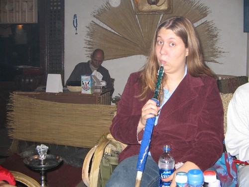At a shisha bar