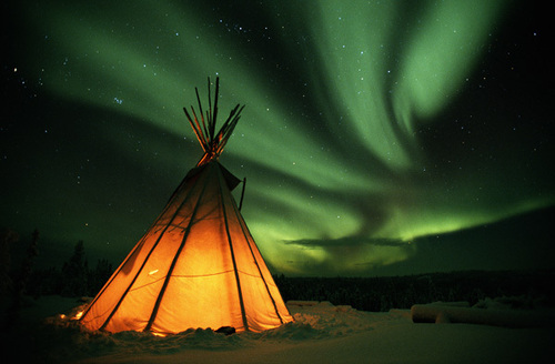Aurora Borealis, NWT - canada Photo