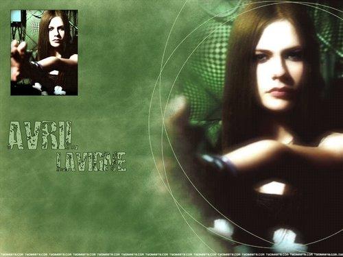 Avril Lavigne karatasi la kupamba ukuta entitled Avril