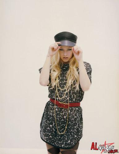 Avril in Nylon