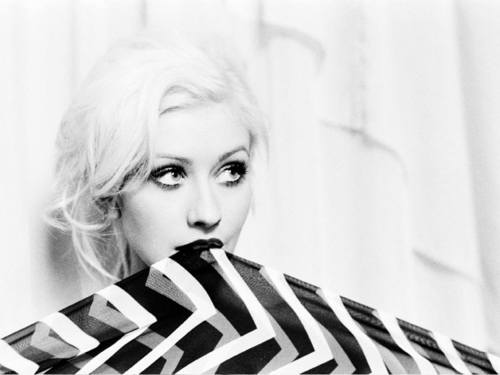 Christina Aguilera wallpaper entitled B&W close-up