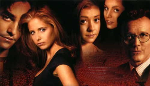Buffy the Vampire Slayer wallpaper titled BTVS-buffy,xander,willow,giles