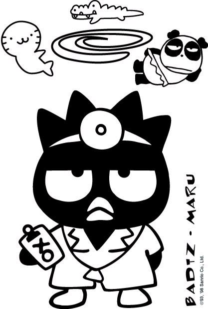 badtz maru coloring pages - photo#32
