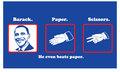 Barack, Paper, Scissors