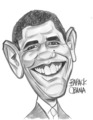Barack Obama Caricature - barack-obama fan art