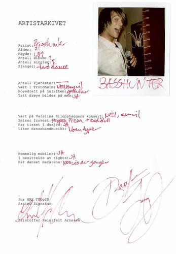 Basshunter Fact Sheet