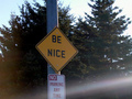 Be Nice Road Sign