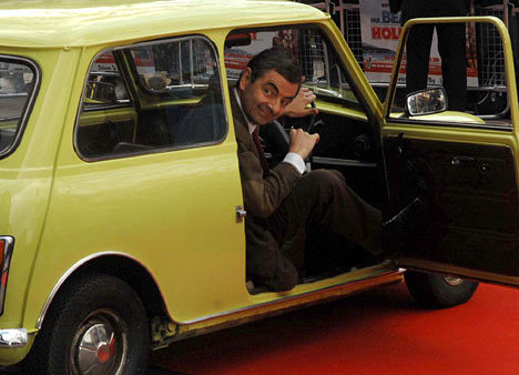 Bean in his Car - mr-bean Photo
