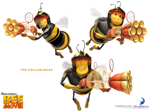 cine fondo de pantalla titled Bee Movie
