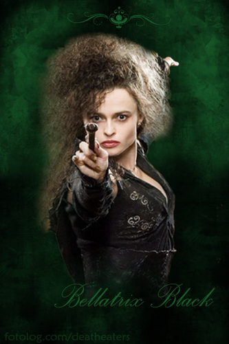 bellatrix lestrange wallpaper called Bellatrix green background