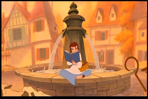 Belle and her book