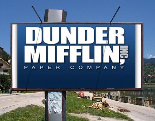 Billboard Dunder Mifflin