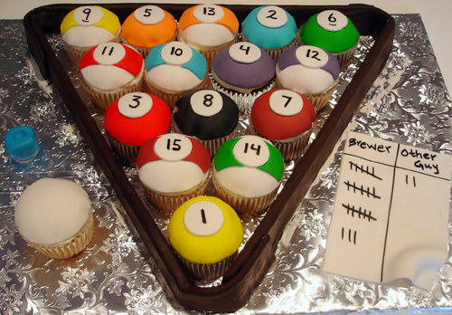 Billiards - cupcakes Photo