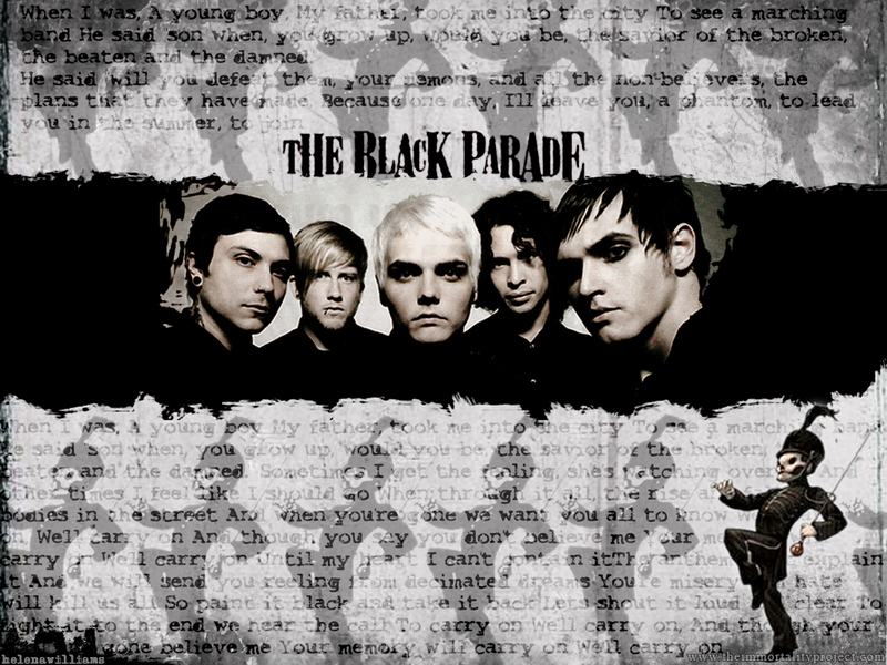 My Chemical Romance Wallpaper Titled Black Parade Mural