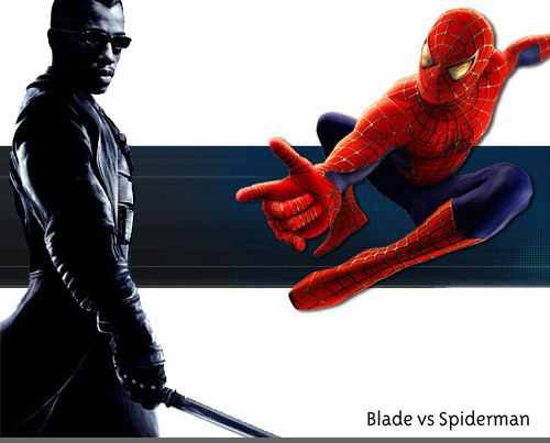 Blade vs. Spider-man