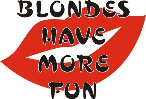 Blondes have meer fun